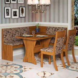 Conjunto Mesa de Canto c/ 2 Cadeiras